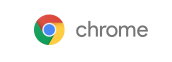 The Google Chrome web browser logo on a white background.