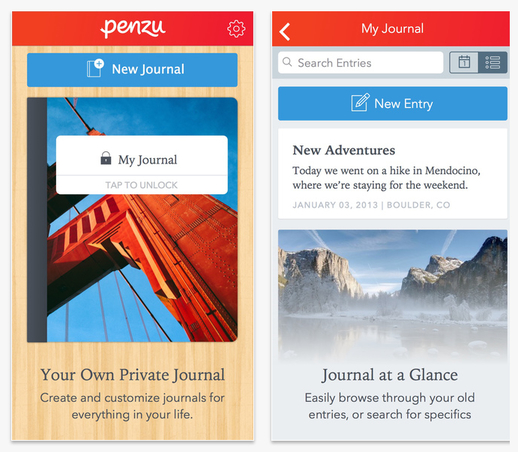 The Penzu mobile apps welcome flow and onboarding features give users a tour of the iOS and Android applications before you dive right in.