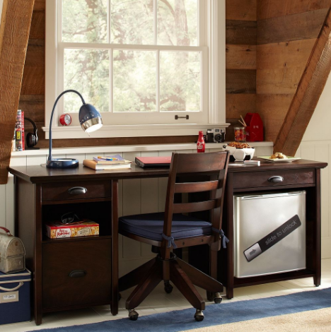A cozy and private desk space perfect for conentrating and focusing on journal writing.